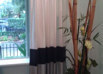 Custom Banded Curtains