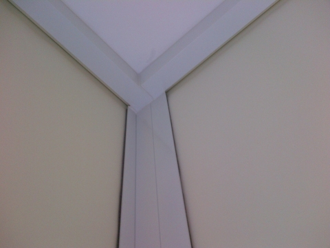 blackout shades with side channels - corner