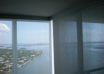 We installed these motorized shades on Venetian Island, Miami Beach.