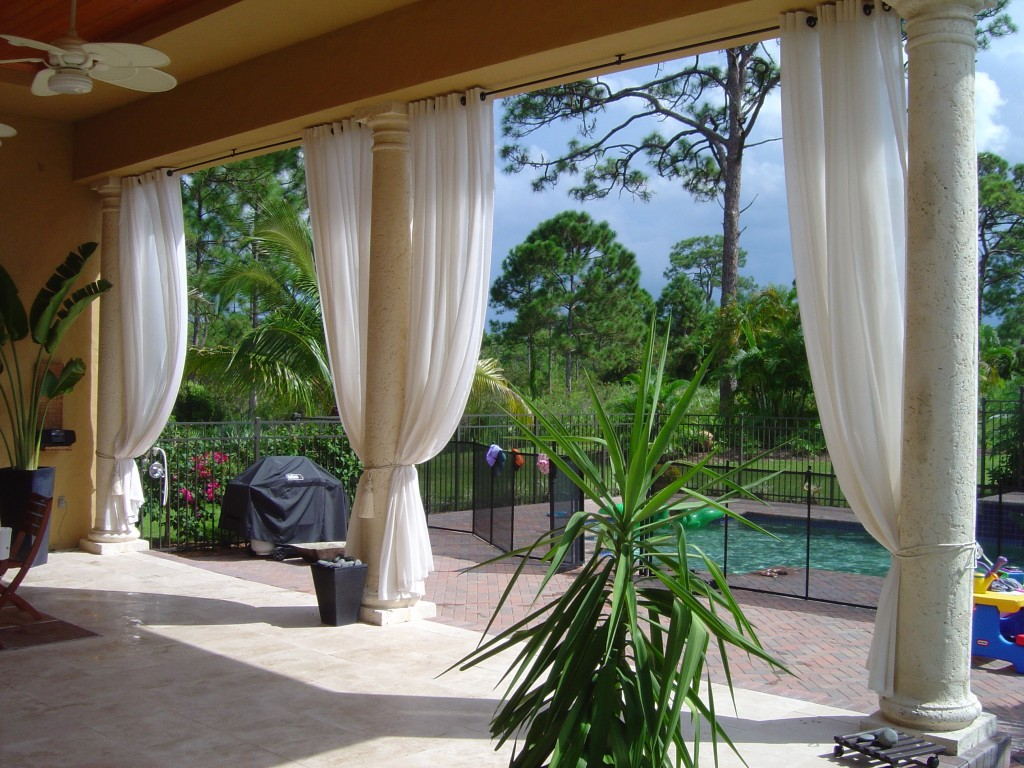 Outdoor curtain rod ideas - Outdoor Curtains Project Miami Fl Filed Exterior Drapes Home Design Ideas