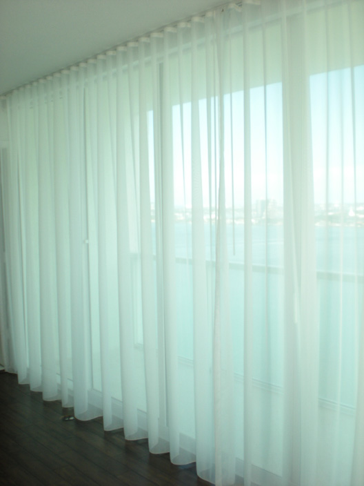Ripplefold Sheer Curtains | Miami, FL