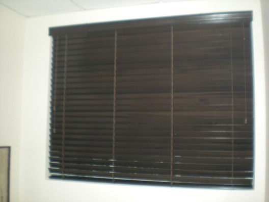 Wood Blinds | Expresso Finish | Miami, FL