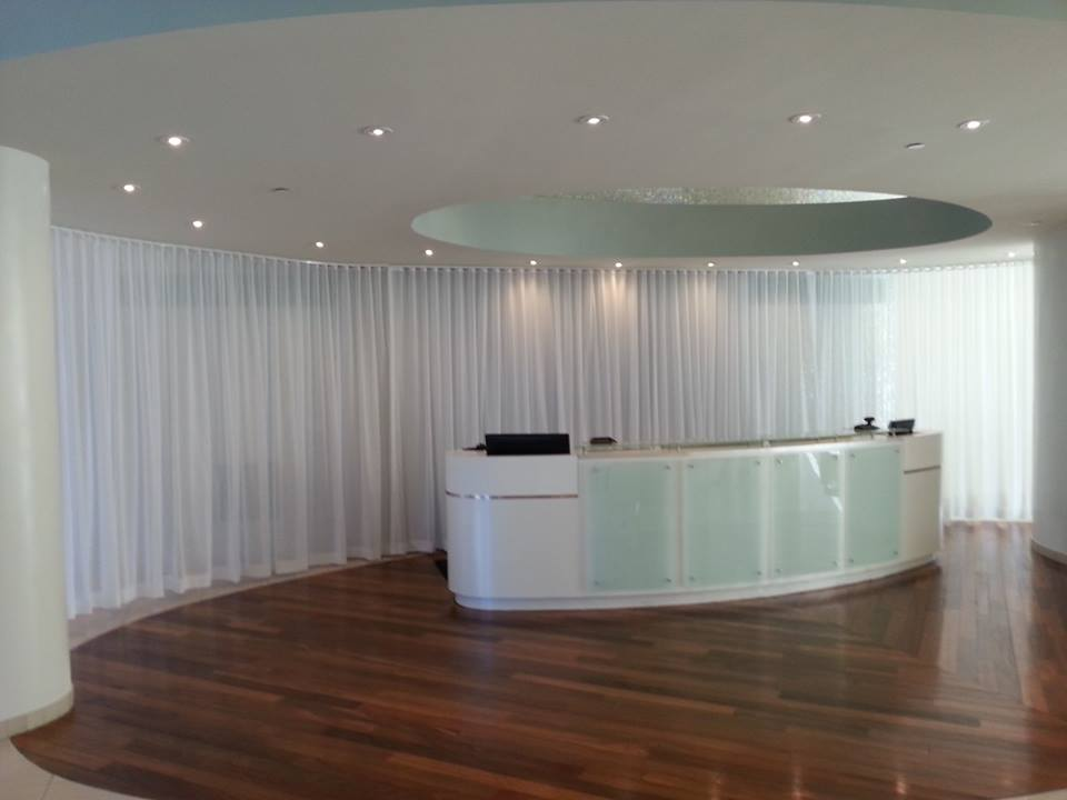 Just finishedCurtain installation | The Floridian lobby, | Miami Beach, FL