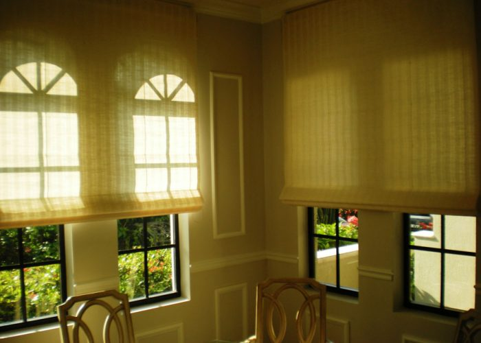 Brown Design | Roman Shades | Miami Beach, FL
