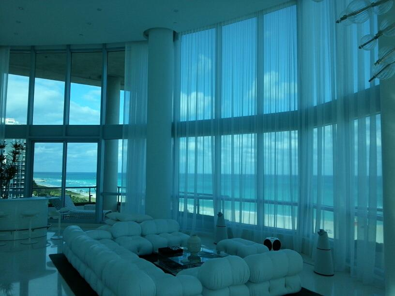 Motorized Curtains | Miami Beach, FL