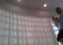 Brown Design | Custom Curved Curtain | Miami, FL
