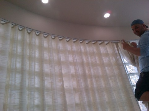 Ripplefold curtains | Custom Curved Drapery Track | Miami, FL